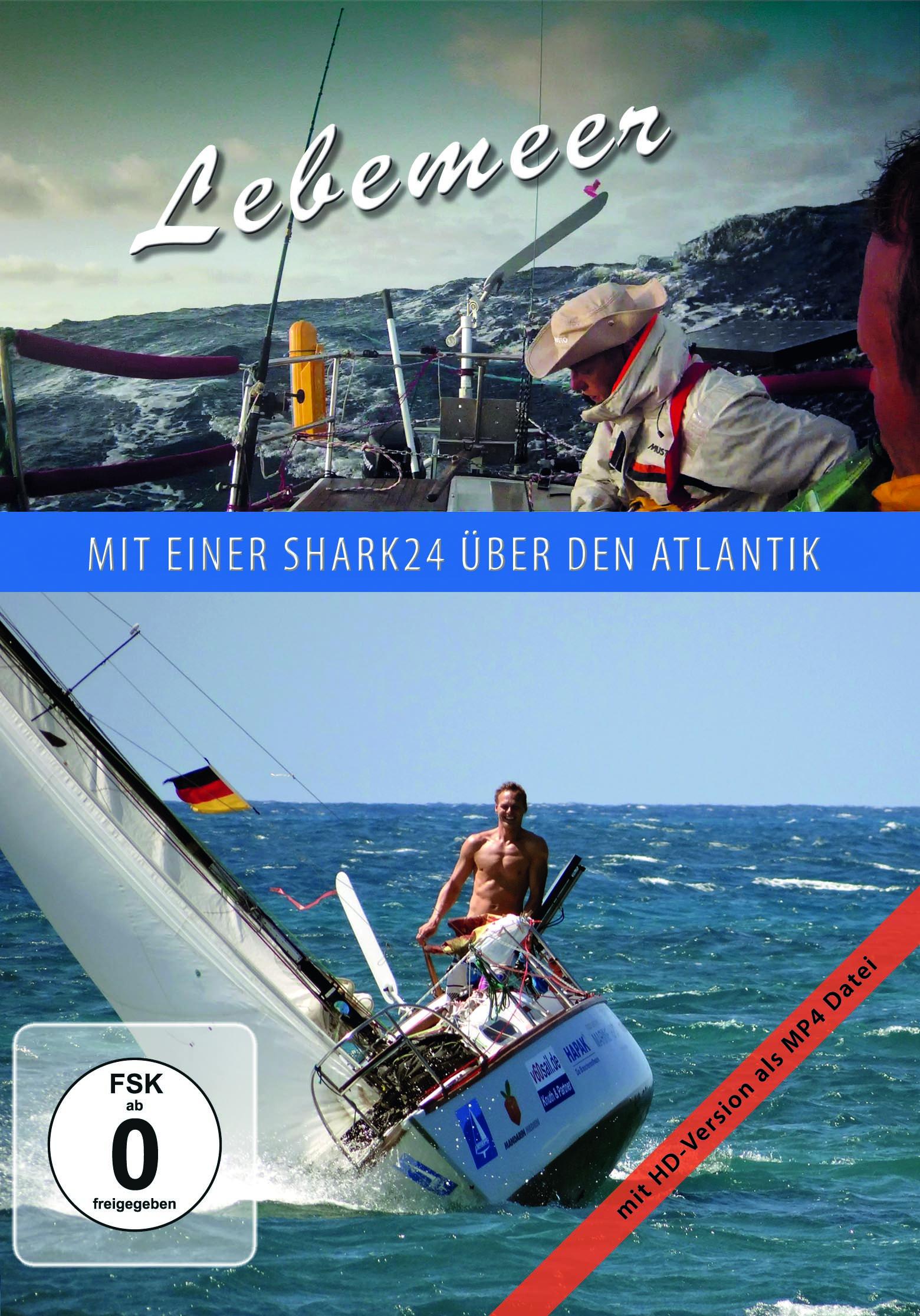 "DVD Cover ""Lebemeer - mit einer SHARK24 über den Atlantik"""