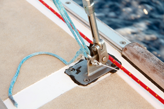 Dyneema-Seil als Wanten Ersatz