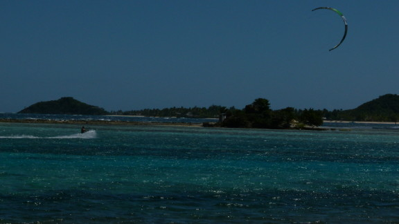 kitesurfing Uniun Island