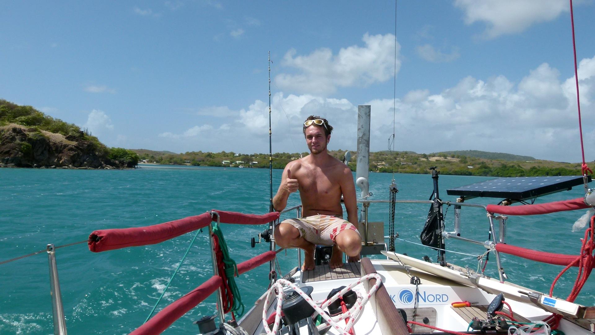 Thomas darf mal ne richtige Yacht steuern