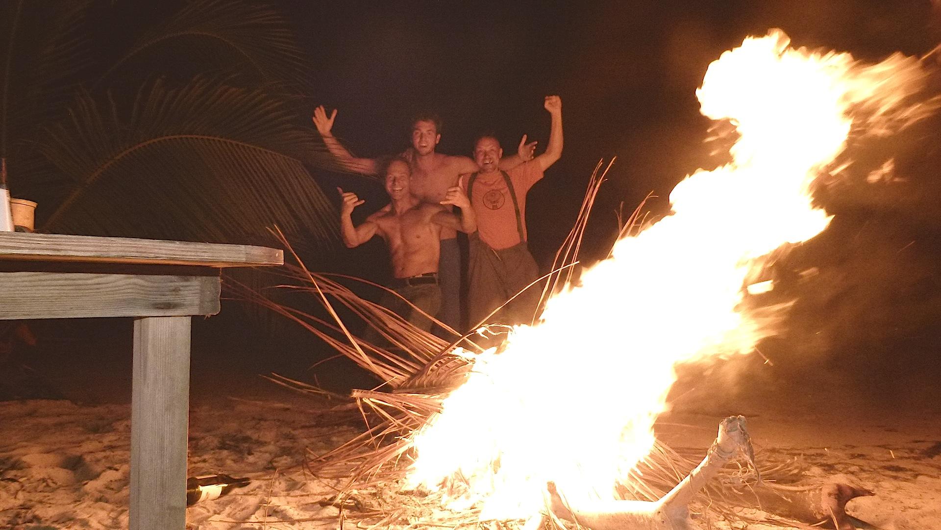 Wir haben Feuer gemacht................