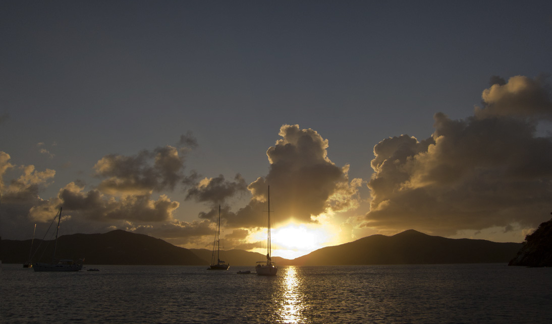 Sonnenuntergang Lee Bay
